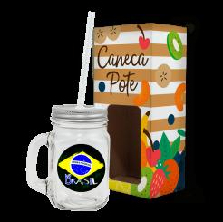 Caneca Pote - Brasil Estilizado