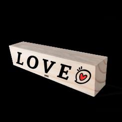 Bloco de Madeira - Love