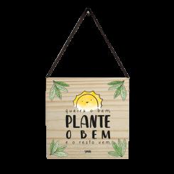 Quadro Decorativo Quadrado - Plante O Bem
